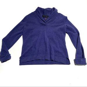 JONES NEW YORK sweater Cashmere Shawl V-Neck